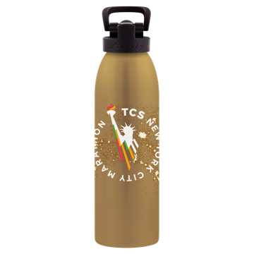 New Balance NYC Marathon 24 Oz Waterbottle, Gold