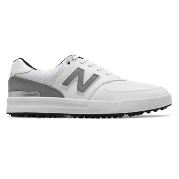 New Balance 574 Greens, White with Grey