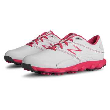 New Balance Pink Ribbon Minimus LX Golf, White with Komen Pink
