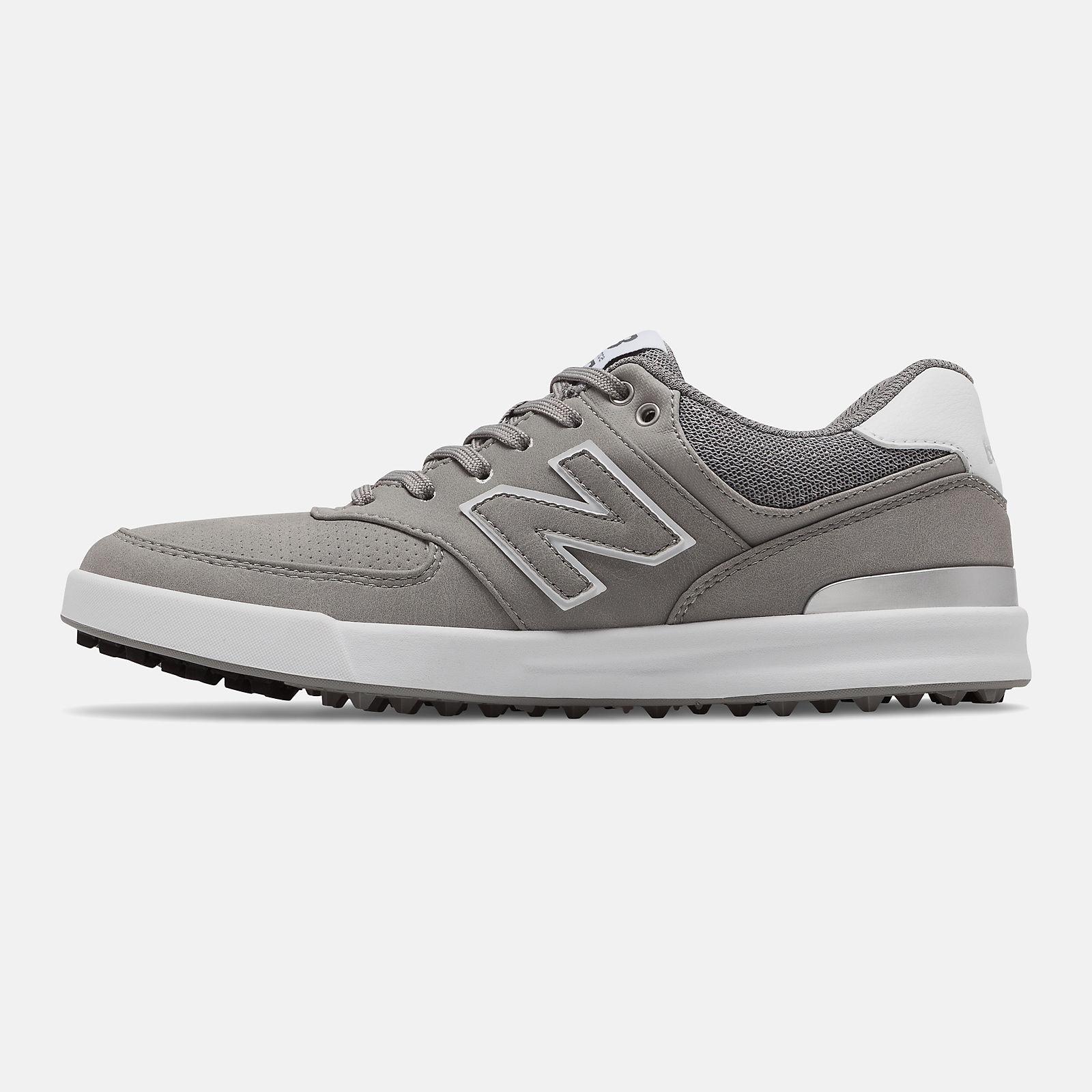 new balance 574 pelle grigio