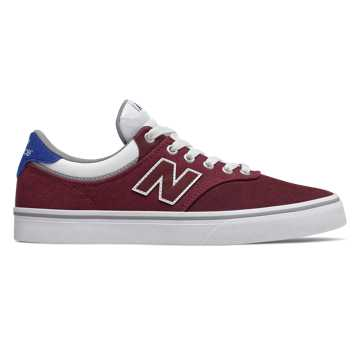 New Balance Numeric 255, Burgundy with Royal Blue & White