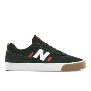 newest 725be 29037 New Balance Numeric 306, Dark Green with Red