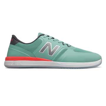 New Balance Numeric 420, Seafoam with Orange
