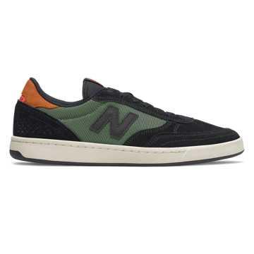 New Balance Numeric 440, Black with Green & Burnt Orange