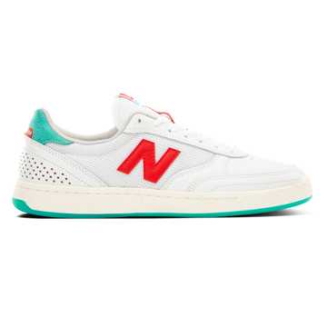 New Balance Numeric 440, White with Red