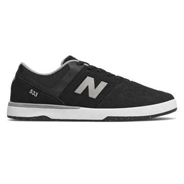 New Balance Numeric PJ Ladd 533, Black with Grey