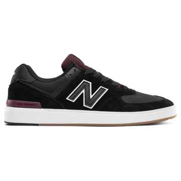 New Balance Numeric 574, Black with Red
