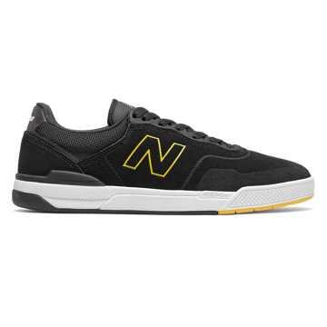 New Balance Numeric 913 Pro Model, Black with Yellow