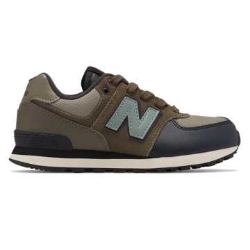New Balance 574 Backpack, Covert Green with Triumph Green