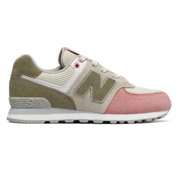 New Balance 574 Serpent Luxe, Bone with Dusted Peach