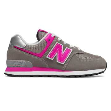 New Balance 574, Grey with Pink