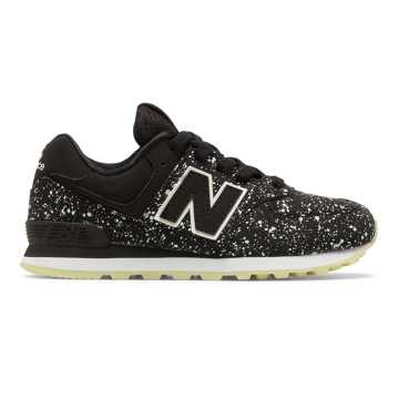 New Balance 574 Glow in the Dark, Black