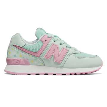 New Balance 574, Crystal with Crystal Rose