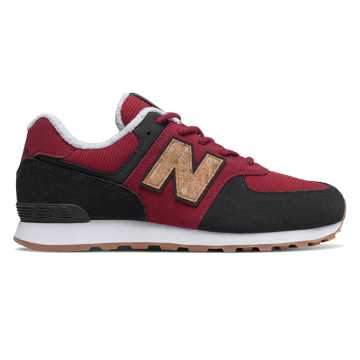 New Balance 574, Red Jasper with Red & Phantom