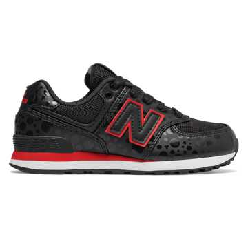 New Balance 574 Disney, Black with Red
