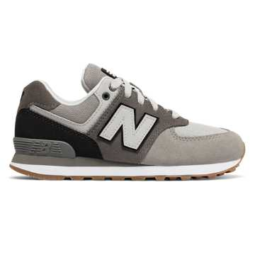 New Balance 574, Castlerock with Black