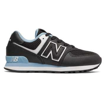 New Balance 574 Summer Sport, Black with Summer Sky