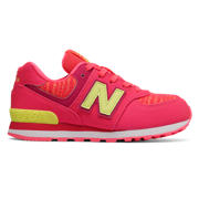 NB 574, Pink Zing with Solar Yellow