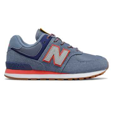 New Balance Camp 574, Chambray with Coral Glow