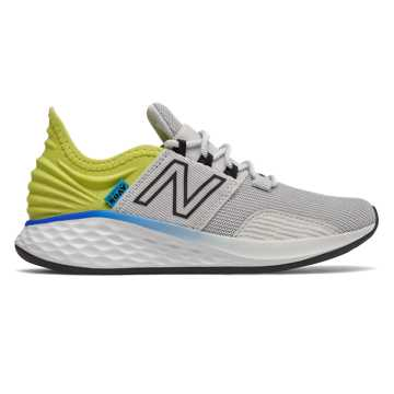 New Balance Fresh Foam Roav, Light Aluminum with Sulphur Yellow & Black
