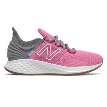 New Balance Fresh Foam Roav Tee Shirt, Candy Pink with Light Aluminum