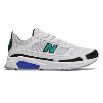 New Balance X-RACER儿童休闲运动鞋, 白色