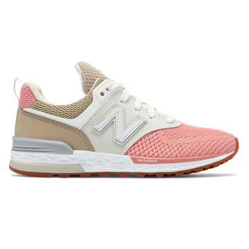 New Balance 574 Sport, Hemp with Dusted Peach