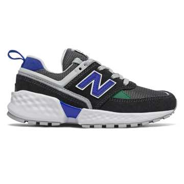 New Balance 574 Sport, Black with UV Blue