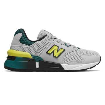 New Balance 997, Light Aluminum with Sulphur Yellow