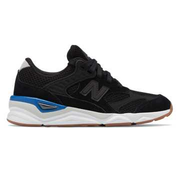 New Balance X-90R, Black with Classic Blue