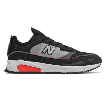 New Balance X-Racer, Black with Velocity Red