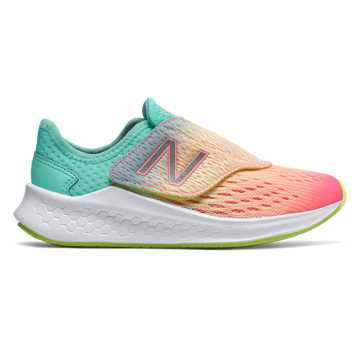 New Balance Hook and Loop Fresh Foam Fast, Bleached Guava with Bleached Lime Glo & Light Tidepool