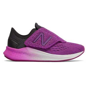 New Balance Hook and Loop Fresh Foam Fast, Black with Voltage Violet