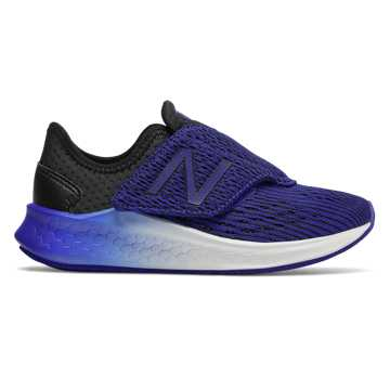 New Balance Hook and Loop Fresh Foam Fast, Black with UV Blue