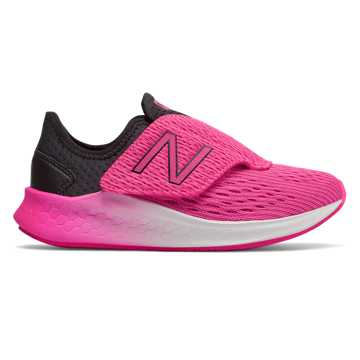 New Balance Hook and Loop Fresh Foam Fast, Black with Peony