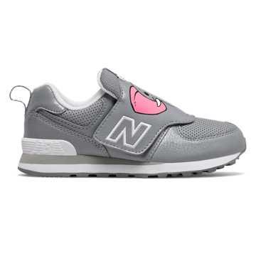 New Balance 574动物系列儿童休闲运动鞋, 灰色