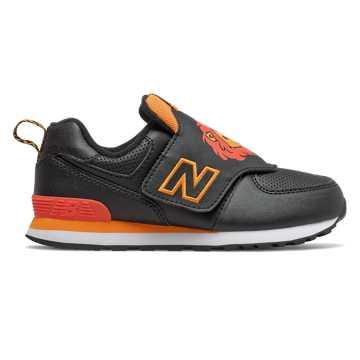 New Balance 574动物系列儿童休闲运动鞋, 黑色