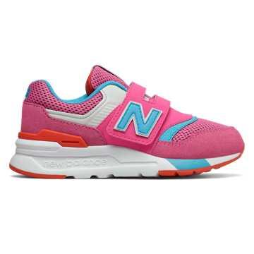 New Balance 997H系列儿童复古休闲运动鞋, 桃红色