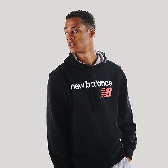 New Balance Fleece Hoodie, RMT0129BK