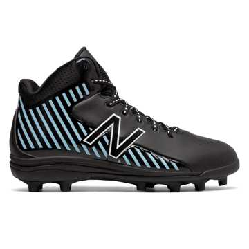 New Balance RushLX Jr, Black with Light Blue