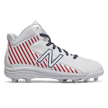 New Balance RushLX Jr, White with Red