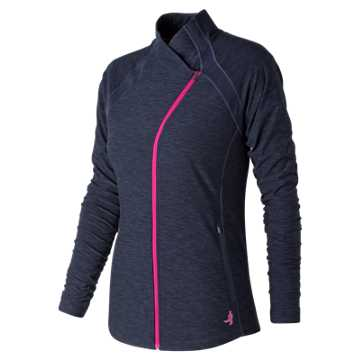 New Balance Pink Ribbon Anticipate Jacket, Pigment Heather