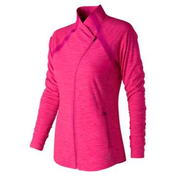 New Balance Pink Ribbon Anticipate Jacket, Pink Heather