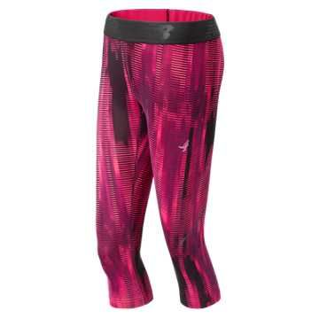 New Balance Pink Ribbon Accelerate Capri, Alpha Pink