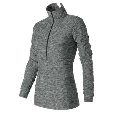 New Balance Pink Ribbon In Transit Half Zip, Black with White