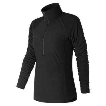 New Balance Pink Ribbon Anticipate Half Zip, Black