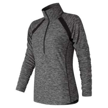 New Balance Pink Ribbon Anticipate Half Zip, Black with White