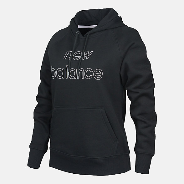 New Balance Women's Core Fleece Hoodie, RWT9125BK