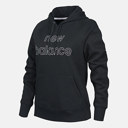 New Balance Volume Fleece Hoody, RWT9125BK image number null