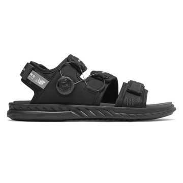 New Balance 男女同款凉鞋 柔软缓震, 黑色